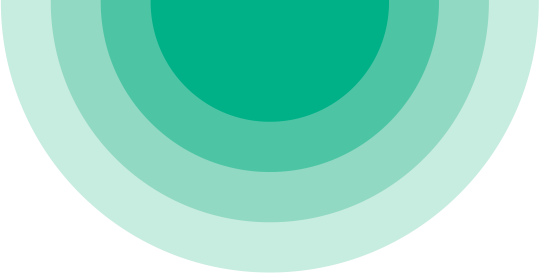 A series of circles in different shades of light green